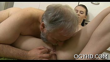 youthfull playgirl blows aged boy-meat
