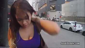 gigantic titty gives bum for cash