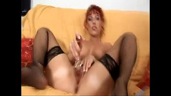 crimson head plays with herself free-for-all mature porno.