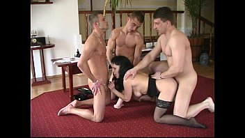 older and youthfull four-way for lush mature cougar.