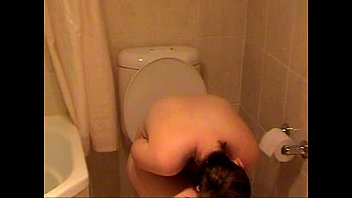 bashful wifey caught bare on the rest room-.