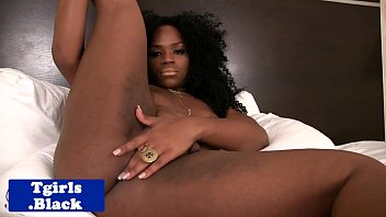 ebony transexual shoots her fountain