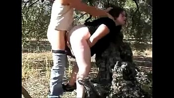 coerced inner ejaculation outdoors with superslut watch her.