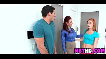 ginger-haired mommy and daugther get stud-meat together.