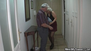 older duo lure blondie teenage into.