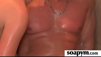 a very scorching soapy hand job.