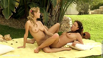 zoe and stracy supah hot girl-on-girl ravaging outdoors.