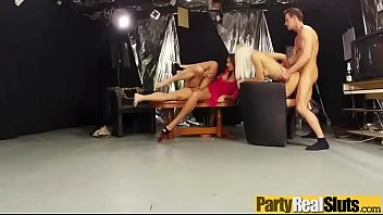 fuckfest in group after soiree with real crimson-hot.