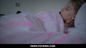 adorable ash-blonde nubile stepdaughter sleeps in daddy039_s sofa.