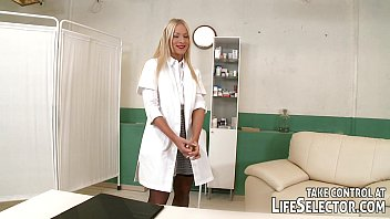dame dom nurse plays with her.