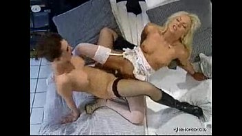 nylon prosperous lezzie hook-up in jaw-dropping stocking and.