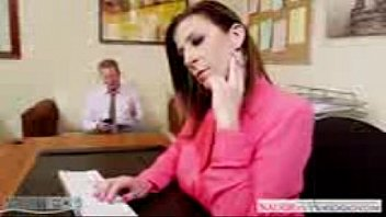 dark-haired-cougar-sara-jay-banging-in-the-office with her manager hrid