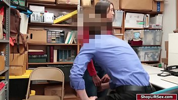 lilly hall caught shoplifting and gets her honeypot screwed