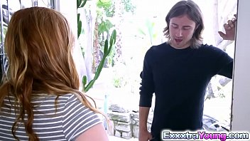 ginger-haired alex tanner romps with her sista crimson-hot boyfriend