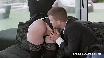 privatecom sandy-haired maid greedy for jism