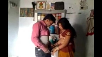 indian wifey and hubby in romantic.