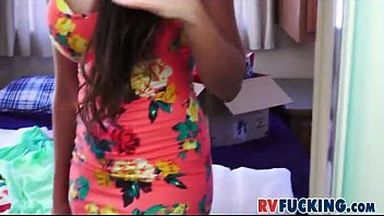 yam-sized-chested latina mercedes carrera switching clothes in recreation vehicle