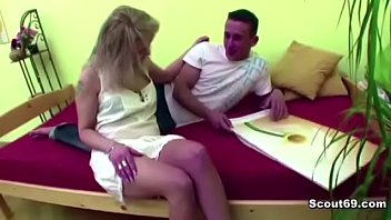 cougar step-mommy lure youthful boy to poke her.