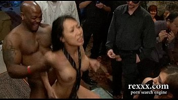 greatest ebony-haired violently gang-plowed by large stiffys and strapon