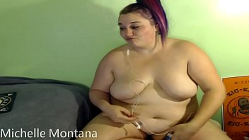 michelle montana bare-chested plus-size cougar chilling.