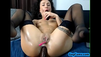 sizzling dame moist gash getting off.
