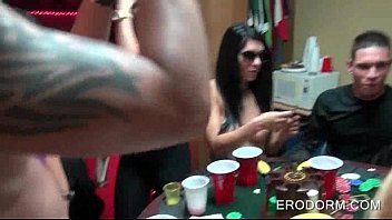 hookup poker game at school dormitory guest room soiree