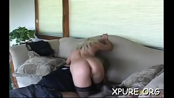sturdy domina gets his nose deep inwards her.