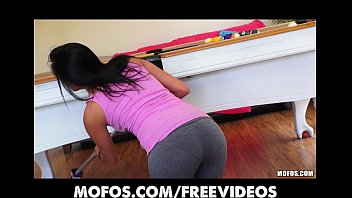 marvelous spanish wifey undresses out of her yoga.