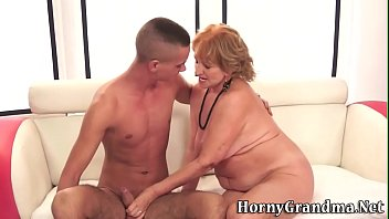 grandmother fellates for jizz