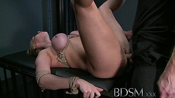 sadism & s/m hard-core blondie victim gets bound.