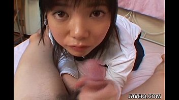 youthfull japanese teenage gives a ideal deep gullet.