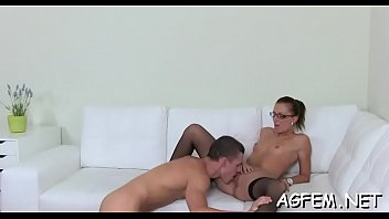 lustful lady agent is about to reach the.