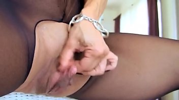 ebony stocking onanism 1 - callmepantycom