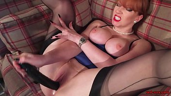 spunky mature red-haired in undergarments frigs.