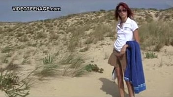 naturist teenage flashing at beach more.