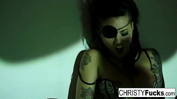 christy mack the pirate plays with her incredible.