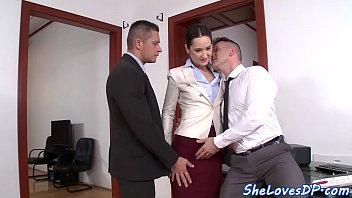 classy stunner threeway smashed and facialized