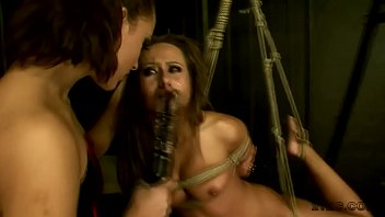 bound doll gets fingerblasted by a.