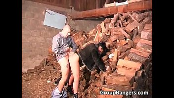 outdoor gang-pound with insatiable mature cockslut