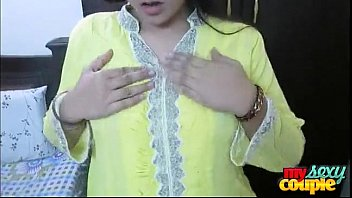indian bhabhi sonia in yellow shalwar suit getting.