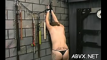top notch non-pro servitude intercourse vignettes with superb sweetheart