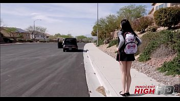 youthfull high school gal marley brinx picked up.