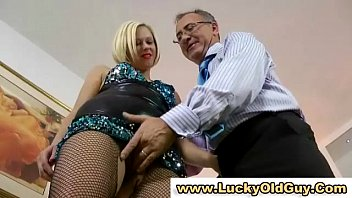 euro nubile in stocking plays with her cooch.
