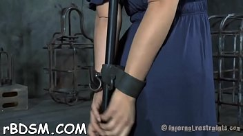 harsh playgirl gets ultra-kinky plaything on her jewels.