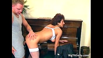 crazy cougar maid inhales on her.