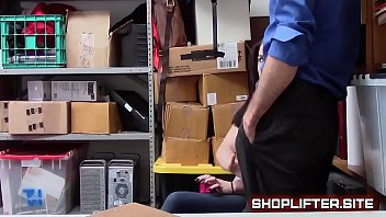 officer blackmailing ditzy nubile thief