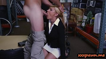 blondie cougar gets drilled by pawn guy in.