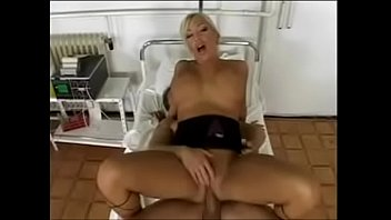 steaming silver-blonde nurse deep throats patients wood and.
