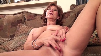 mature mother brook toying with her.