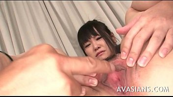 trampy brown-haired jap get her fur covered butthole.